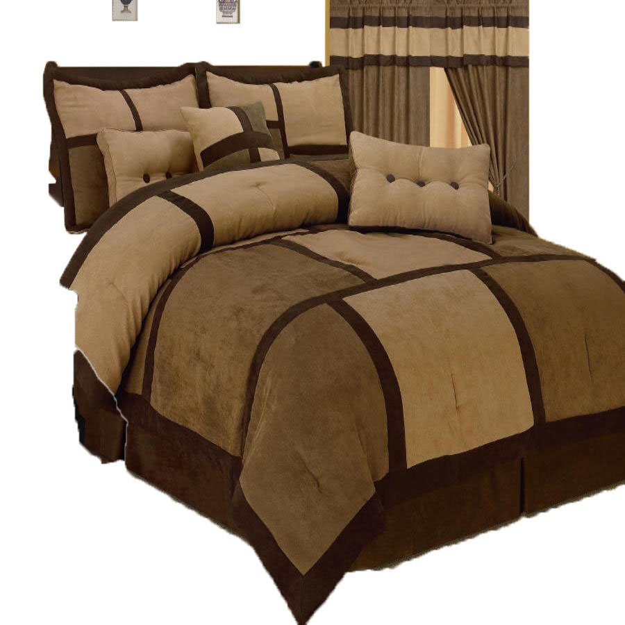 Image of: Suede Comforter Set 28 Image 7 Stripe Micro Suede Newest Trends Decoration Country Bed Sets