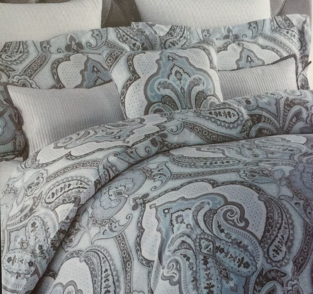 Image of: Tahari Paisley Scroll Medallion Full Queen Duvet Cover Set Galaxy Bed Set Queen Themed