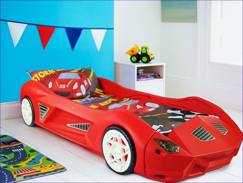 Image of: Toddler Car Bed