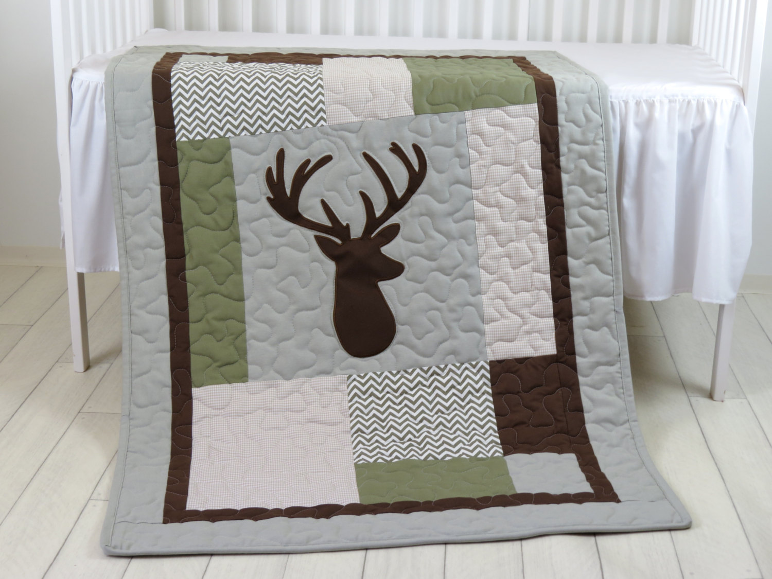 Image of: Cover Baby Deer Crib Bedding