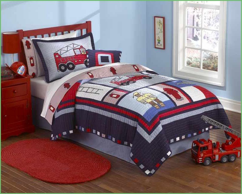 Image of: Fire Truck Toddler Bedding Home Idea Wonderful Ideas Toddler Bed Sets Boy