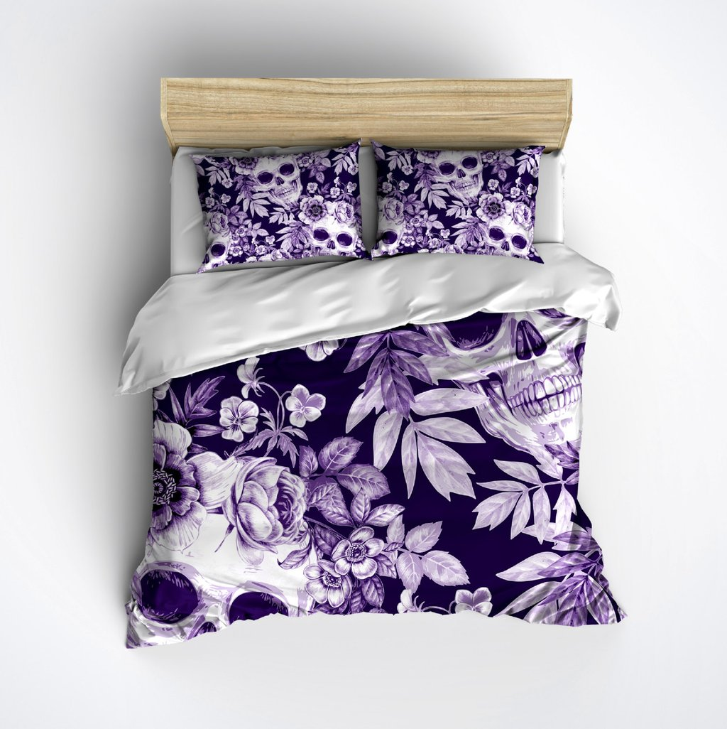 Image of: Skull Bed 28 Image Featherweight Skull Bedding Black Wonderful Ideas Toddler Bed Sets Boy