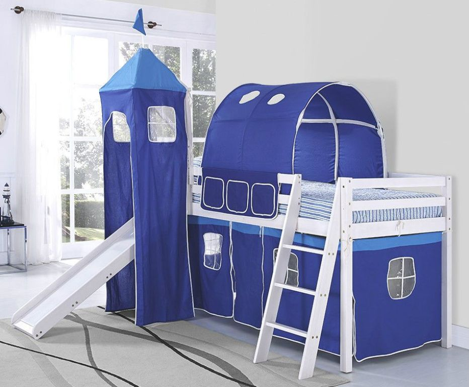 Image of: Childrens Bed With Slide And Ladder