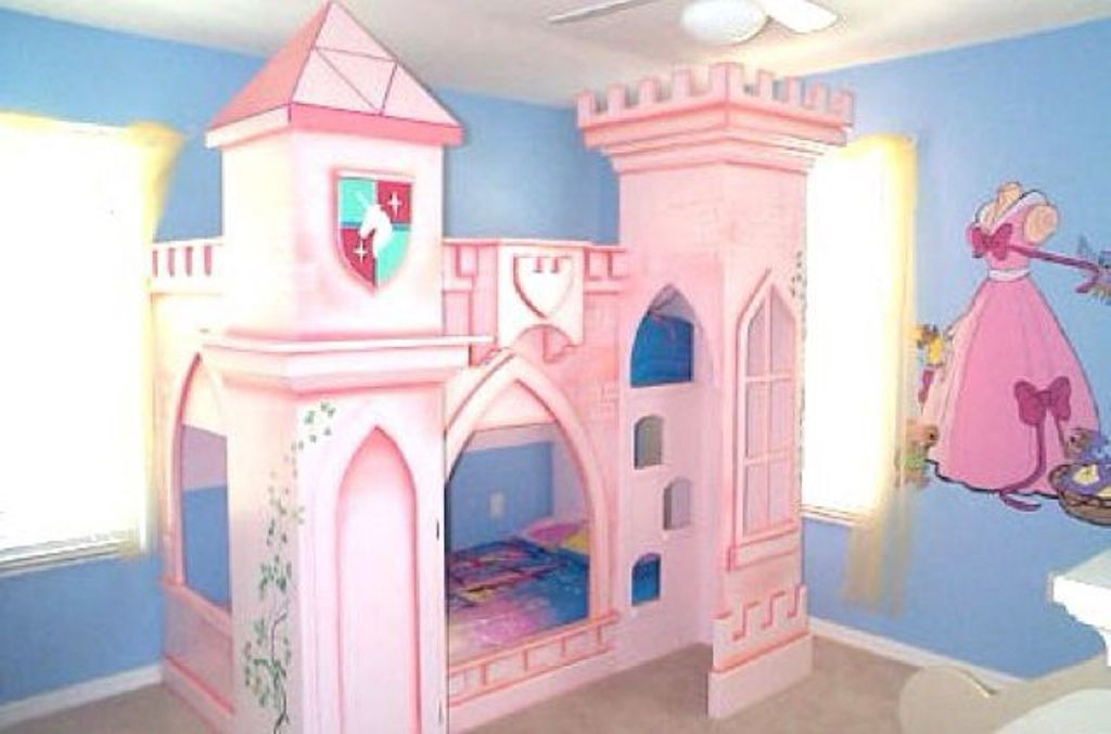 Image of: Disney Princess Bunk Bed