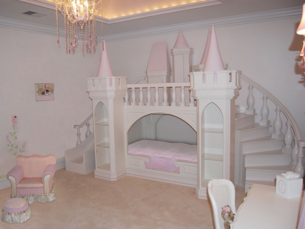 Image of: Princess Bunk Bed Castle