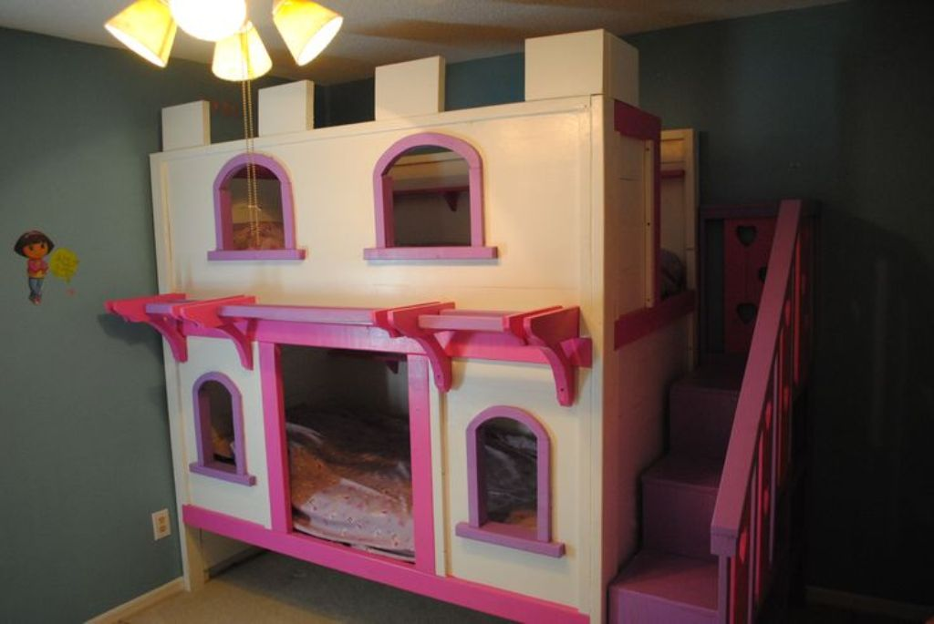 Image of: Princess Bunk Bed Diy