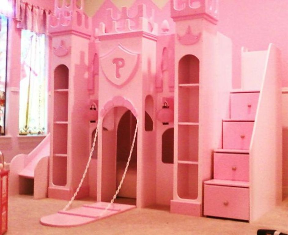 Image of: Princess Bunk Beds For Girls