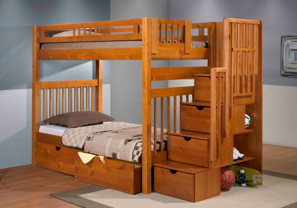 Image of: Bunk Beds With Stairs Design