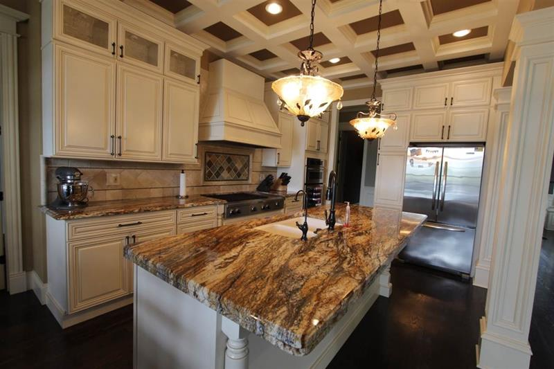 Image of: Beautiful White Granite Countertops
