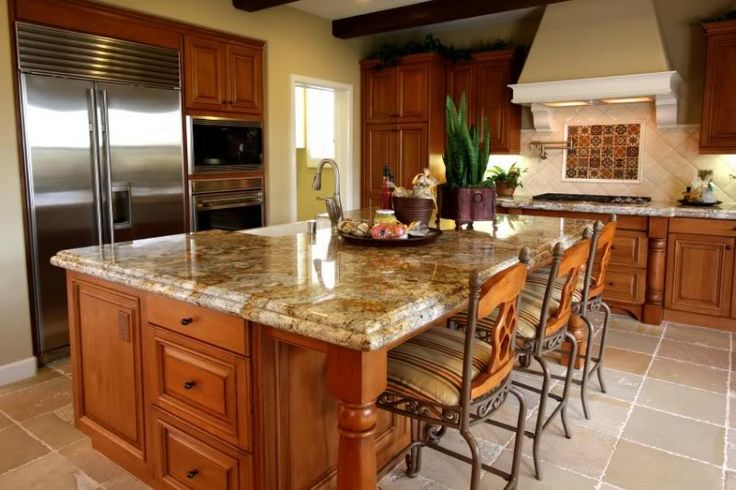 Image of: Best Granite Countertops With Oak Cabinets