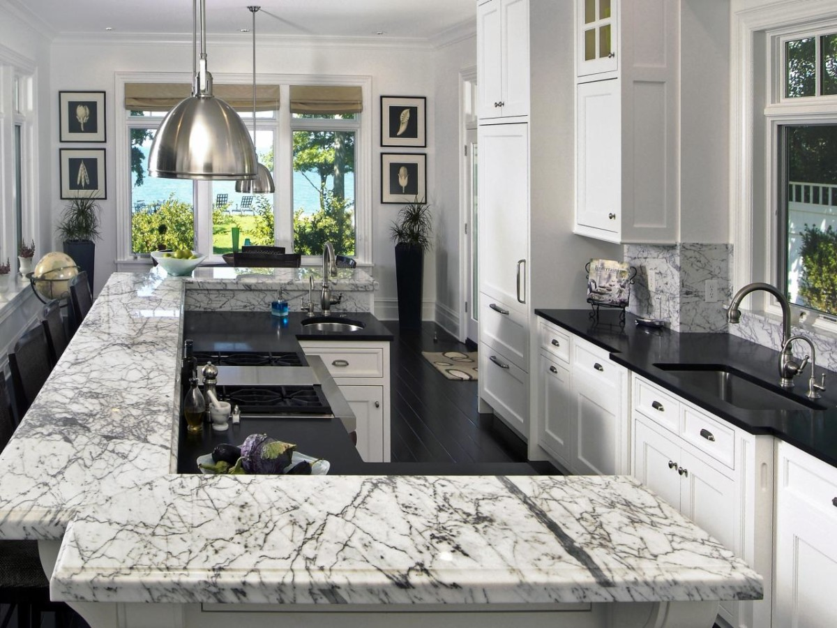 Image of: Best Marble For Kitchen
