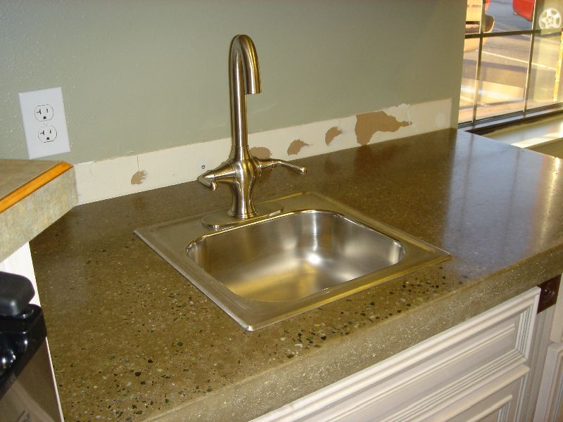 Image of: Best Polished Concrete Countertops