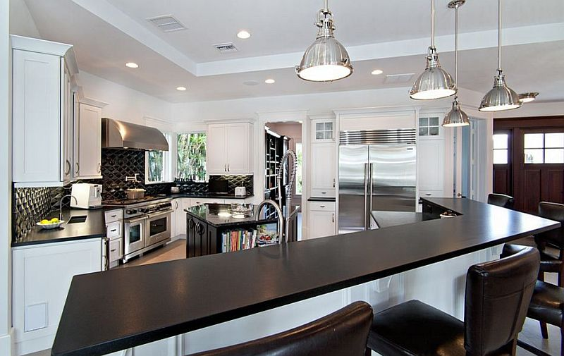 Image of: Black Marble Countertop Cost