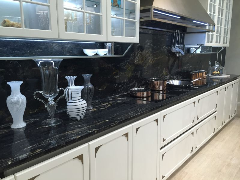 Image of: Black Marble Countertop Images