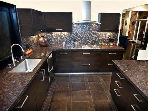 Image of: Black Marble Countertops Color