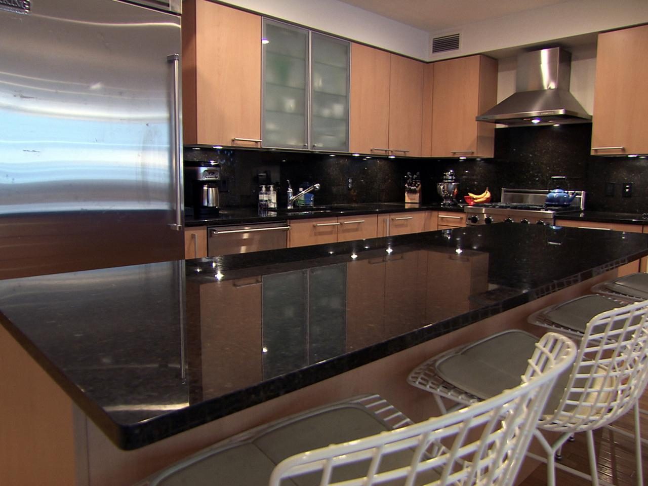Image of: Black Marble Kitchen Countertops