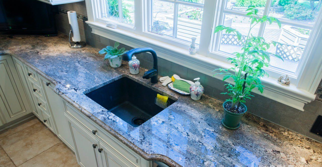 Image of: Blue Granite Countertops Kitchen Pictures