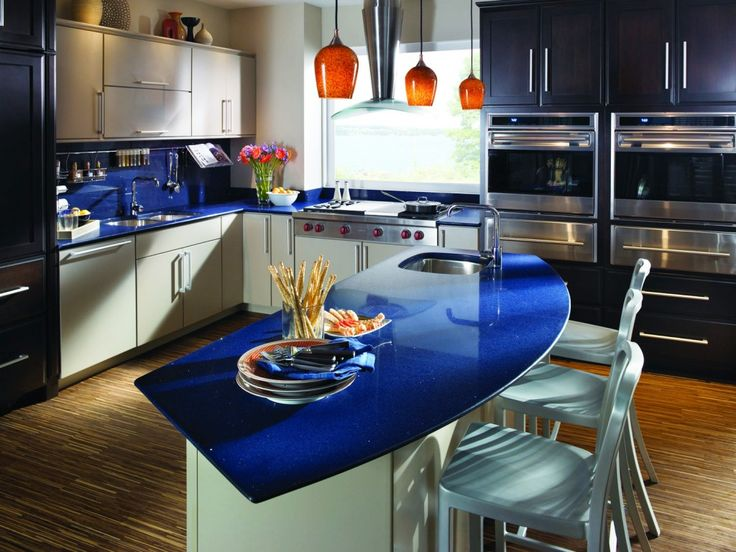 Image of: Blue Quartz Countertops For Kitchens