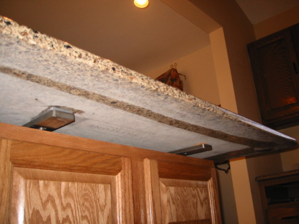 Image of: Brackets For Granite Countertop Support