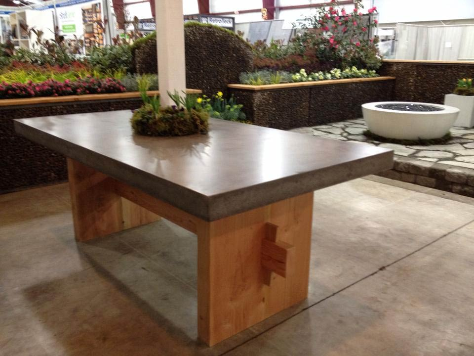 Image of: Concrete Countertop Finish Options