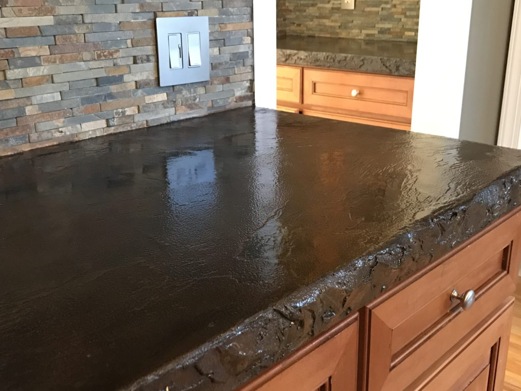 Image of: Concrete Countertop Finishes Types