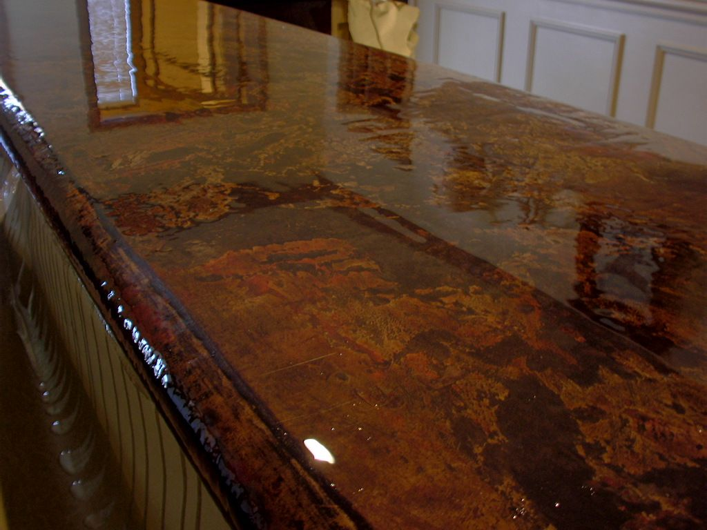 Image of: Concrete Countertop Stain Ideas