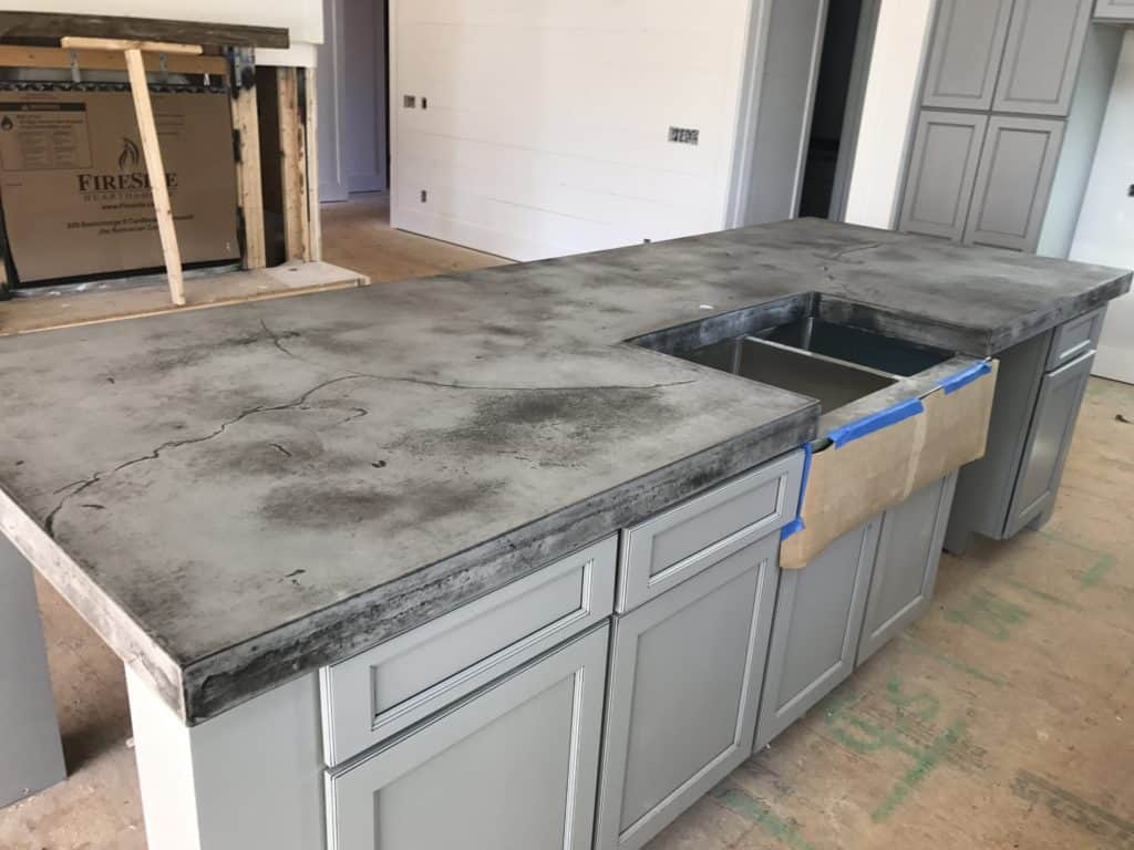 Image of: Concrete Countertops Pros And Cons Style