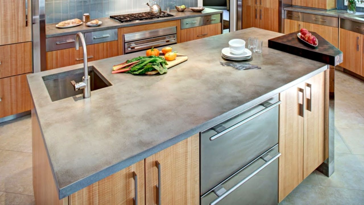 Image of: Concrete Kitchen Countertops Images