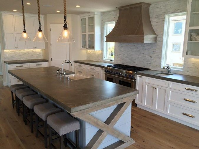 Image of: Concrete Kitchen Countertops Pictures