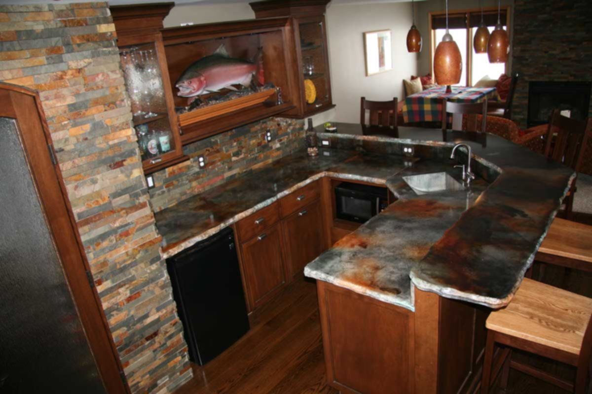 Image of: Concrete Kitchen Countertops Pros And Cons