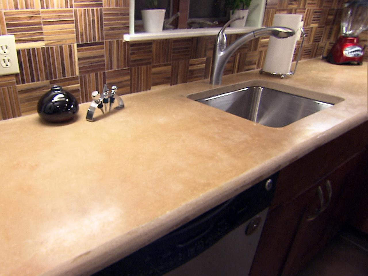 Image of: Concrete Kitchen Countertops Options