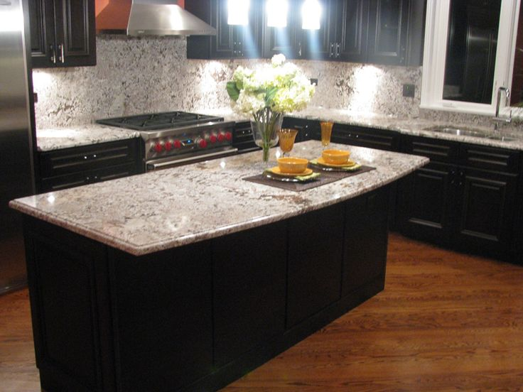Image of: Dark Quartz Marble Look Countertops