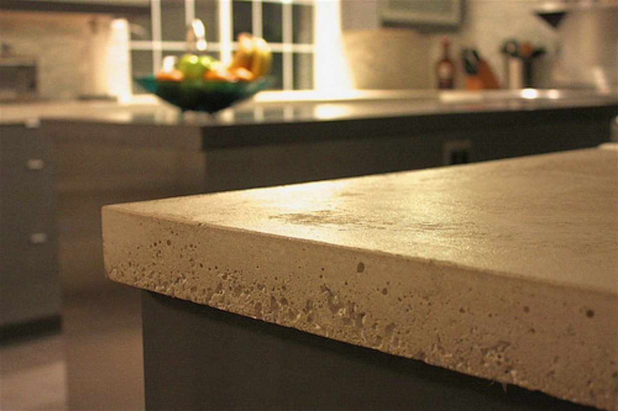 Image of: Concrete Countertop Edge Forms Models  How To Make Concrete Within Concrete Edge Forms