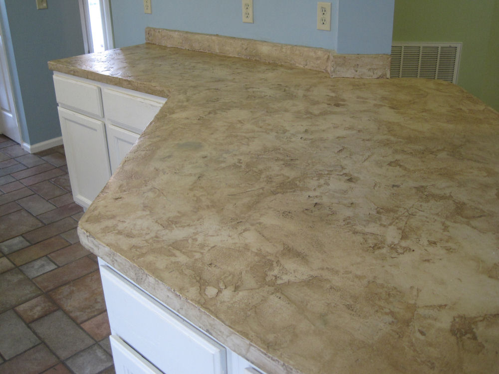Fake Granite Countertop Overlay