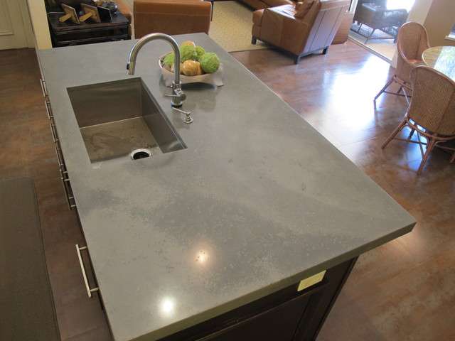 Image of: Faux Concrete Countertop Tips