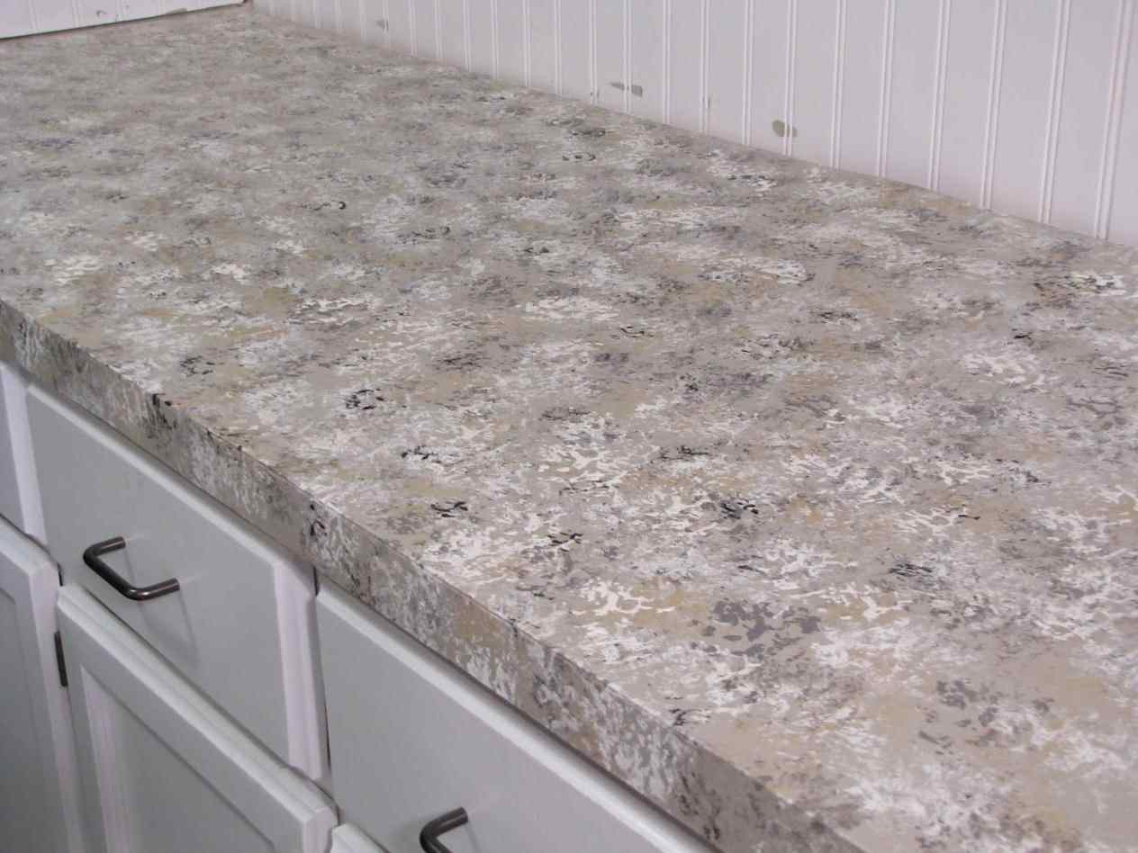 Image of: Faux Granite Countertops Paint
