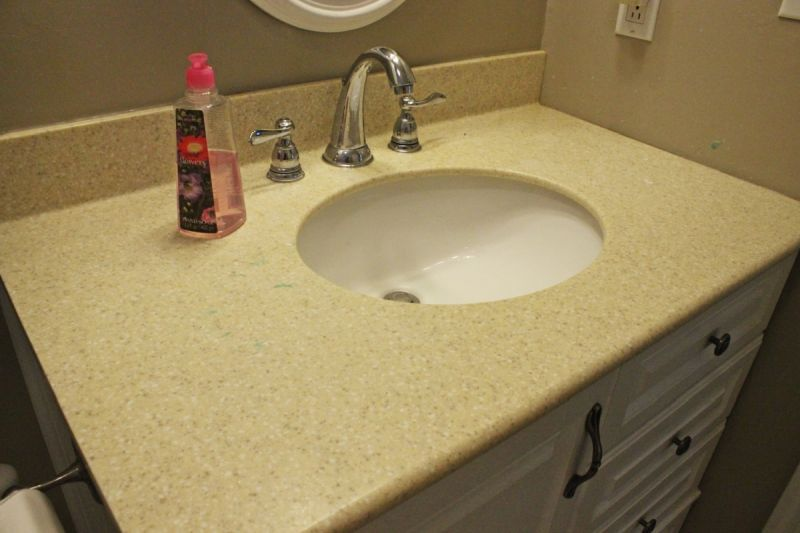 Image of: Faux Marble Concrete Countertops