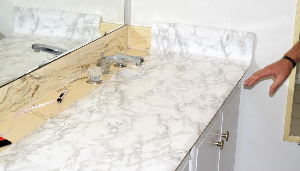 Faux Marble Countertops Contact Paper