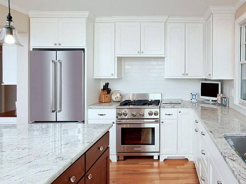 Image of: Good Quartz Countertops With White Cabinets