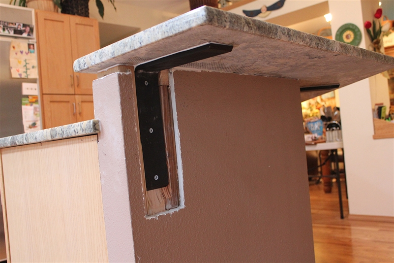 Image of: Granite Countertop Support Bracket Lowes