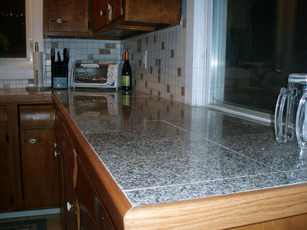 Granite Tile Countertop Edge