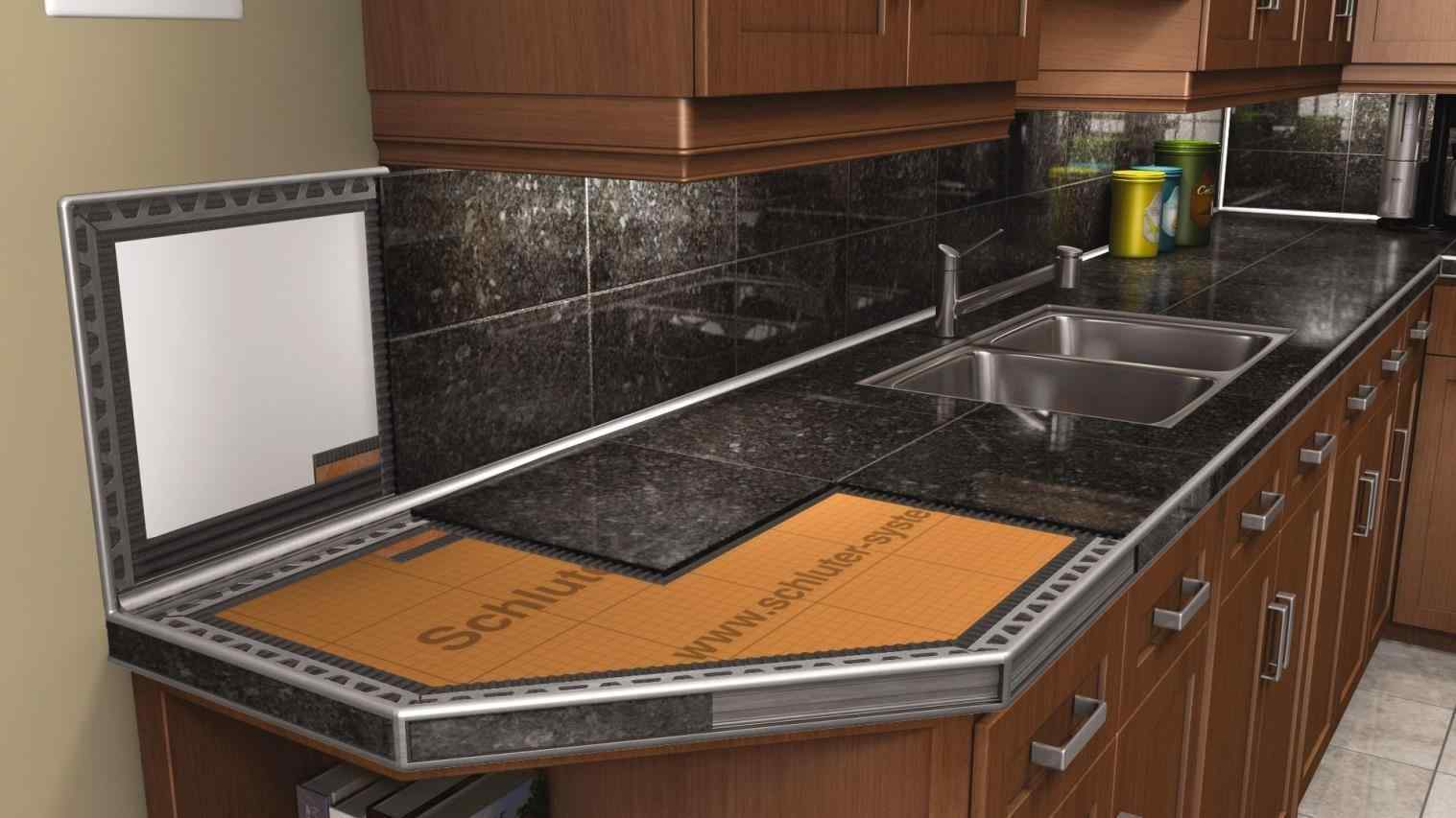 Image of: Granite Tile Countertops Pros And Cons
