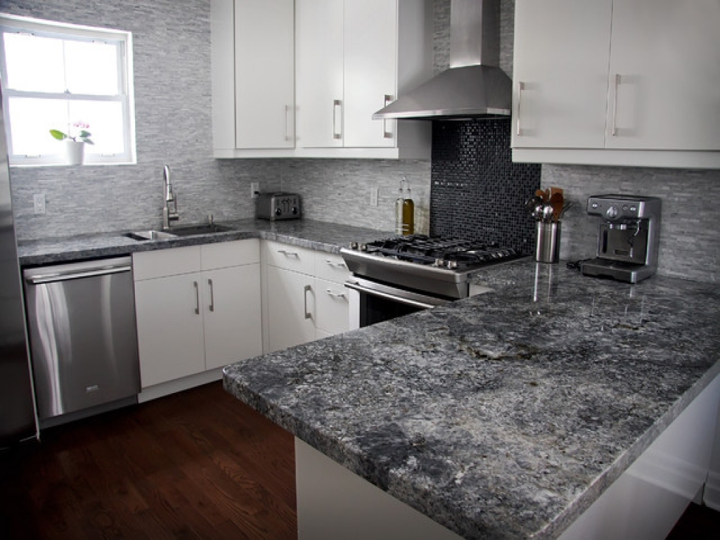 Image of: Gray Marble Countertops Kitchen
