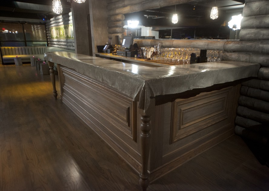 Image of: Grey Stained Concrete Countertops