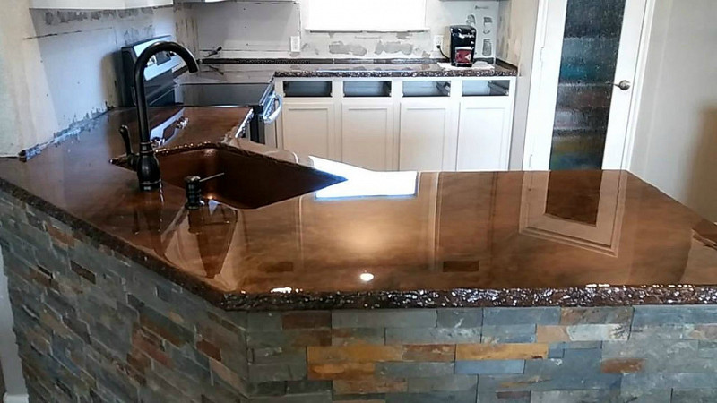 Image of: How To Concrete Countertops Pros And Cons