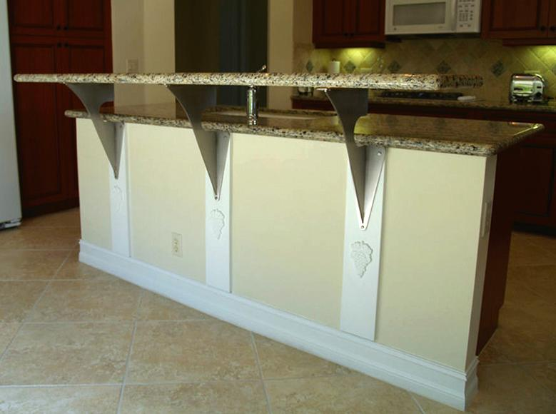 Image of: Ideas Granite Countertop Support Brackets