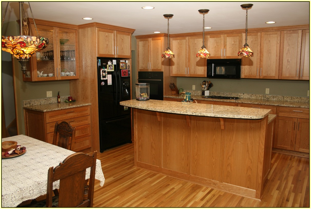 Ideas Granite Countertops With Oak Cabinets