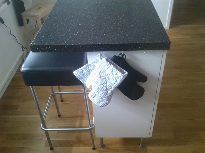 Image of: Ikea Black Countertop