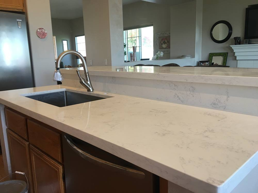 Image of: Kitchen With White Marble Countertops Images