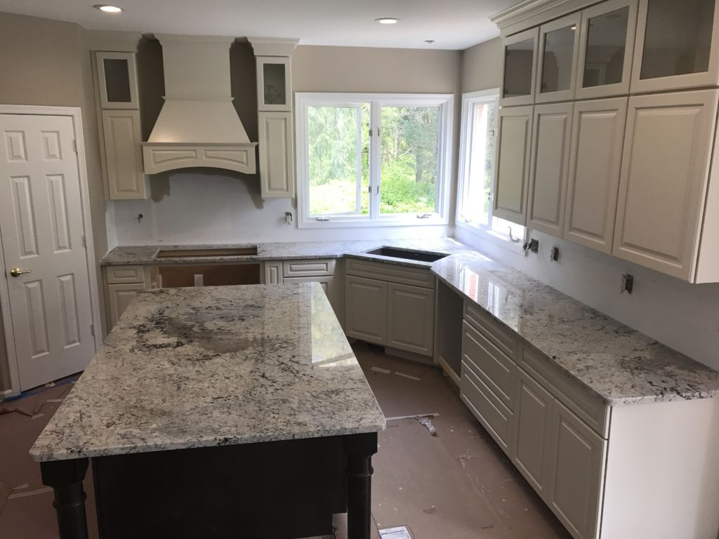 Image of: Kitchens With White Ice Granite Countertops